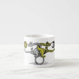 Gold and Silver Dragons United Espresso Cup