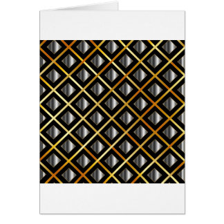 Gold and silver grids greeting card