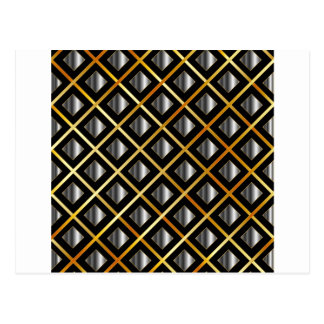 Gold and silver grids postcard