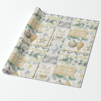 Gold and Silver Metallic Look Christmas Gift Wrap