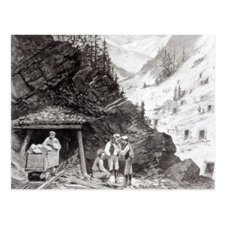 Gold and Silver Mining Postcard