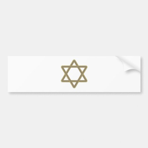Gold and Silver Star of David for Bar Bat Mitzvah Bumper Sticker