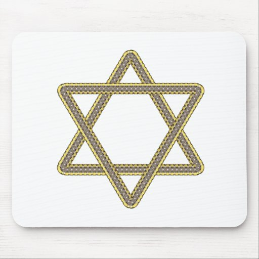 Gold and Silver Star of David for Bar Bat Mitzvah Mouse Pads