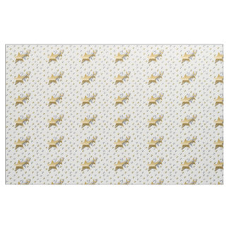 Gold and Silver Stars Fabric