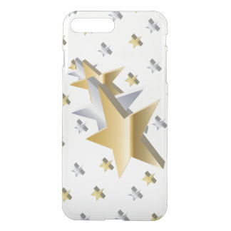 Gold and Silver Stars iPhone 7 Plus Case