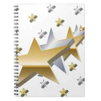 Gold and Silver Stars Note Book