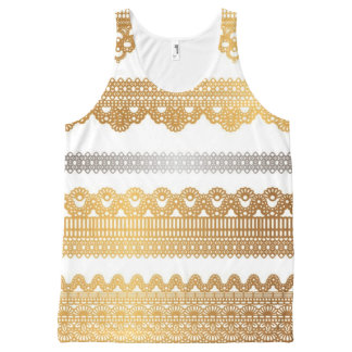 gold and silver tank