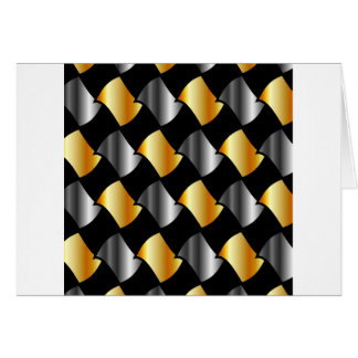Gold and silver tiles greeting card