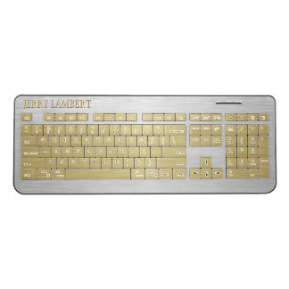 Gold and Silver Wireless Keyboard