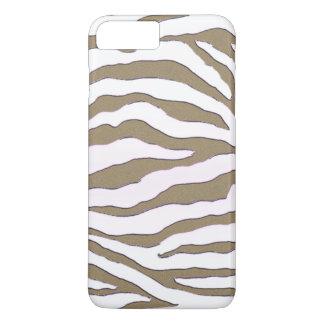 Gold and Silver Zebra Stripe iPhone 7 Case
