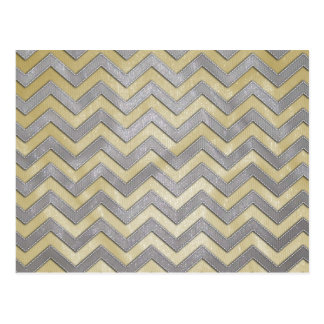 Gold and Silver Zig Zags Postcard