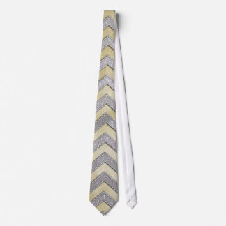 Gold and Silver Zig Zags Tie