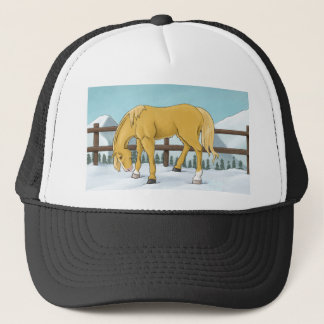 Gold and Snow Trucker Hat
