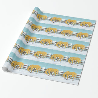 Gold and Snow Wrapping Paper