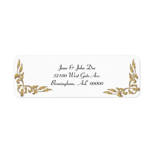 Gold and White Address Labels