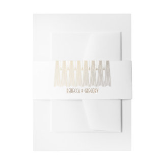 Gold and White Art Deco Gatsby Wedding Invitation Belly Band
