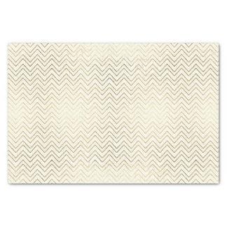 Gold and White Chevron Tissue Paper