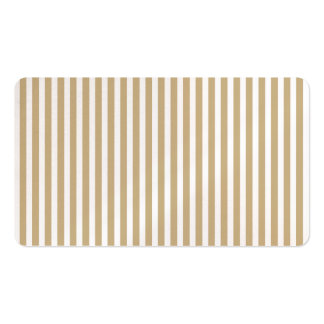 Gold and White Christmas Candy Cane Stripes Business Card