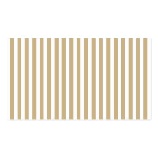 Gold and White Christmas Candy Cane Stripes Business Card Templates