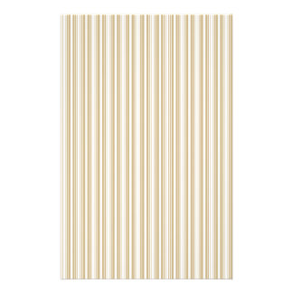 Gold and White Christmas Stripes Full Color Flyer