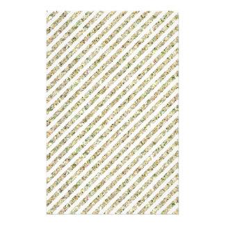 Gold and White Glitter Stripes Flyer