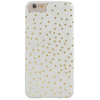 Gold and White Mini Triangles Phone Case