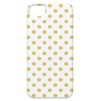 Gold And White Polka Dots iPhone Case