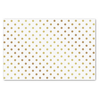 "Gold and White Polka Dots 10"" X 15"" Tissue Paper"