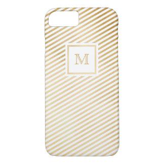 Gold and white striped Phone case