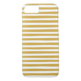 gold and white stripes iPhone 8/7 case