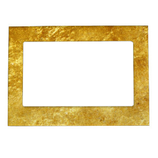 Gold and yellow plated marble pattern magnetic picture frame