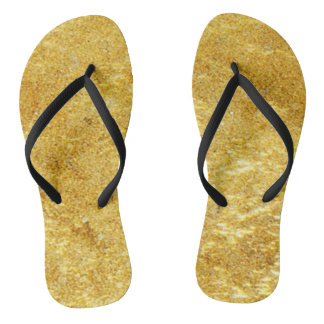 Gold and yellow plated marble pattern thongs