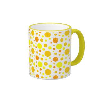 Gold and Yellow Polka Dots Coffee Mug
