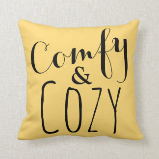 Gold and Yellow Throw Pillow Comfy Cozy Home Decor