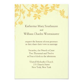 "Gold And Yellow Wedding Invitations 5"" X 7"" Invitation Card"