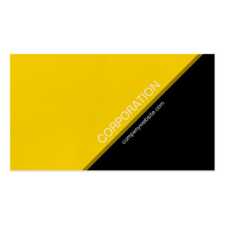 Gold angled text modern business card
