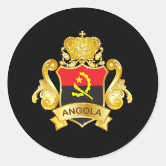 Gold Angola Classic Round Sticker