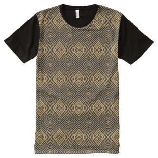 Gold Animal Pattern#48e American Apparel Buy Sale All-Over Print T-Shirt
