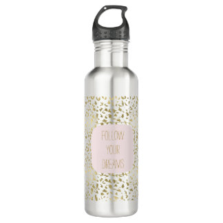 Gold Animal Print Inspirational 710 Ml Water Bottle
