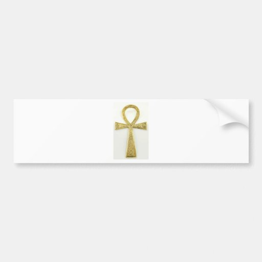 Gold Ankh Bumper Stickers
