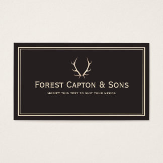 Gold Antlers Business Card