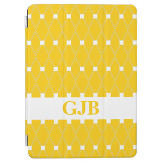 Gold Argyle Lattice with monogram iPad Air Cover