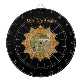 Gold Army anti tank guided missile Dartboard