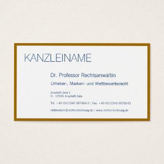 Gold arround business card