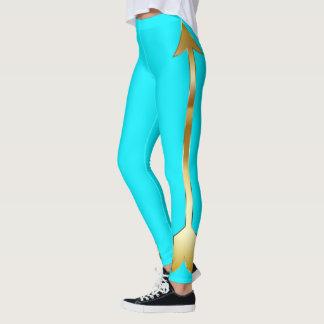 Gold Arrow Turquoise Leggings