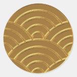 Gold Art Deco Arches Letter Envelope Seal Favour