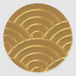Gold Art Deco Arches Letter Envelope Seal Favour Round Stickers