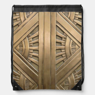 gold, art nouveau,art deco,vintage,chic,elegant,vi drawstring bag