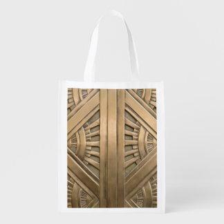gold, art nouveau,art deco,vintage,chic,elegant,vi reusable grocery bag
