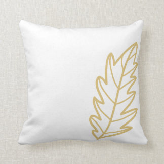 Gold Autumn Leaf Pillow